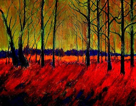 Autumn Flames 1 by Kent Whitaker
