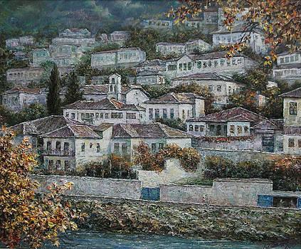 Autumn gloaming in Berat by Lazar Taci