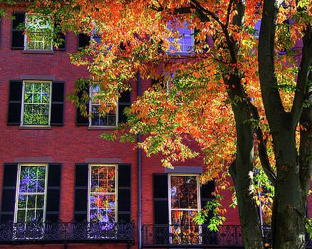 Autumn in Boston - Louisburg Square - Boston by Joann Vitali