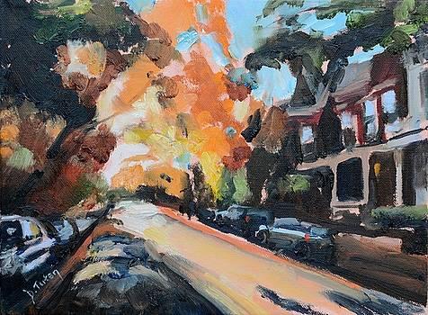 Autumn in The Fan District Richmond Virginia by Donna Tuten