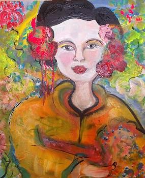 Autumn in the garden geisha by Judith Desrosiers
