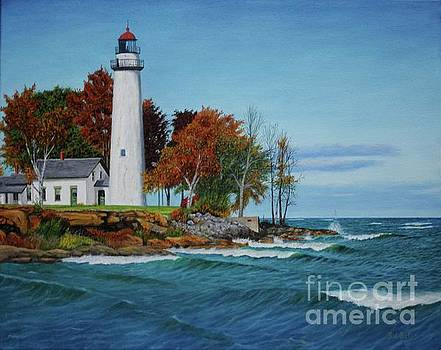 Autumn Lighthouse by Sid Ball