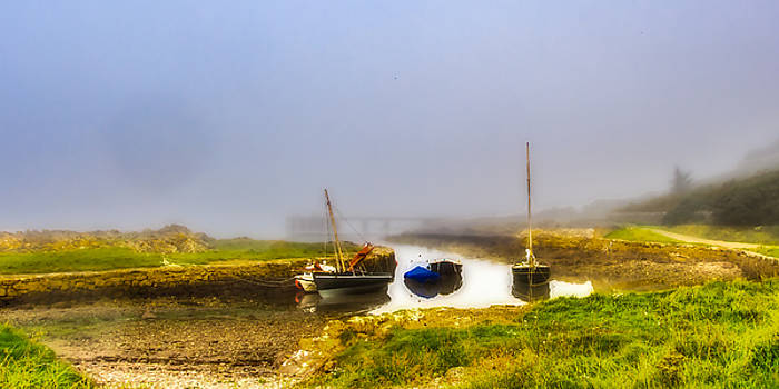Autumn Mist at Portencross by Tylie Duff