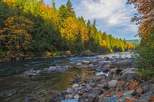 Autumn Morning Light on the Snoqualmie by Ken Stanback