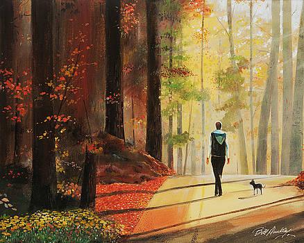 Autumn Morning Walk by Bill Dunkley