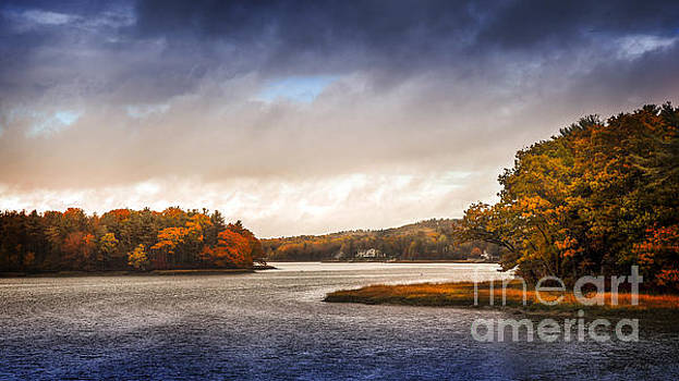 Autumn On Scammell Bridge Dover NH by Deena Athans