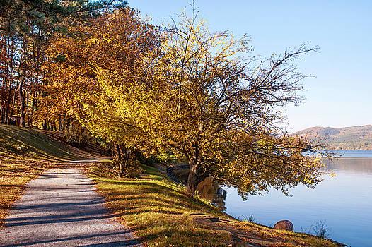 Jenny Rainbow - Autumn Path along the Lake Shore
