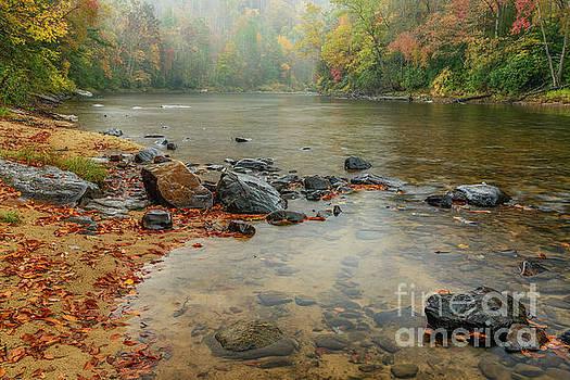 Autumn Rain Gauley River by Thomas R Fletcher