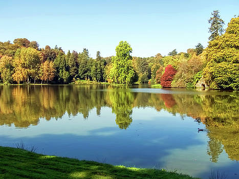 Autumn Reflections At Stourhead by Susie Peek