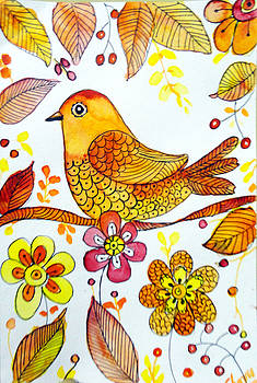 Autumn Robin by Charu Jain