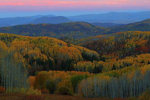 Autumn sunrise at Rainbow Ridge Colorado by Jetson Nguyen