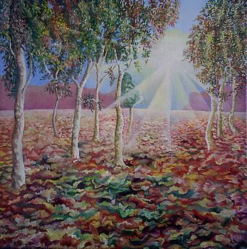 Autumn trees by Alexander Dudchin