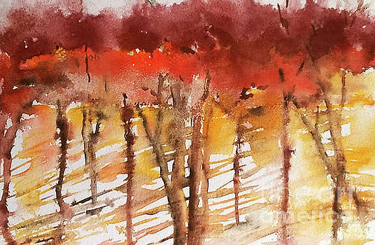 Autumn Trees by Betty Pinkston