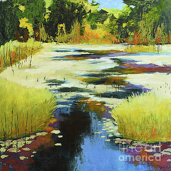 Autumn Water Garden by Melody Cleary