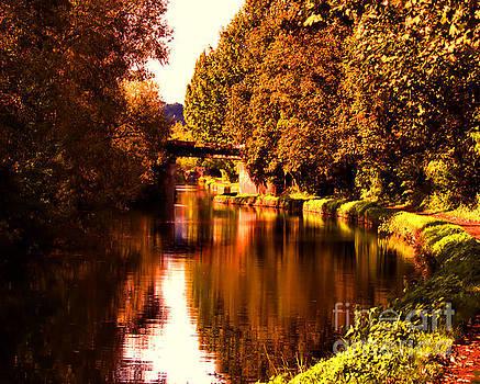 Autumn Waterway by Baggieoldboy