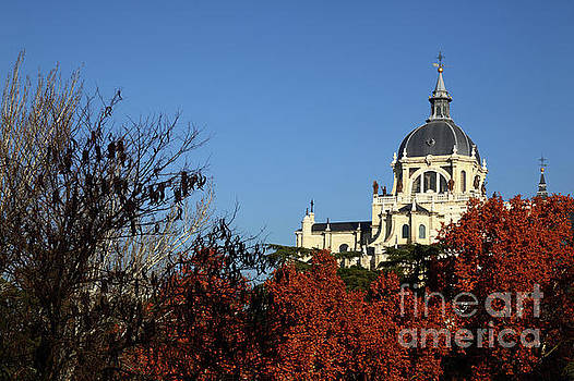 Autumnal Madrid and Almudena Cathedral by James Brunker