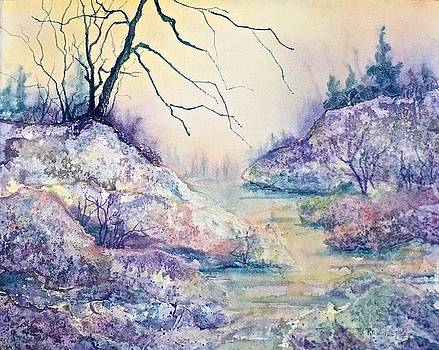 Autumnscape in Purple by Carolyn Rosenberger