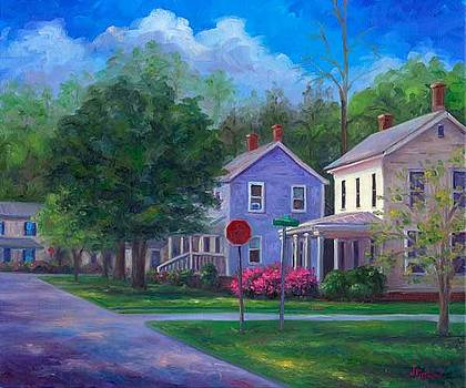 Azaleas on Broad Street by Jeff Pittman