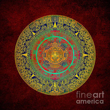 Aztec Sun God by Klara Acel