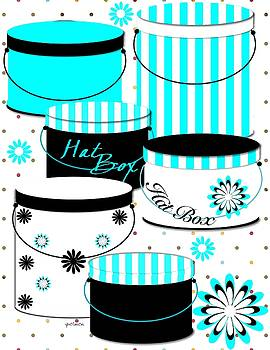Baby Blue Hatboxes by Yoli Fae