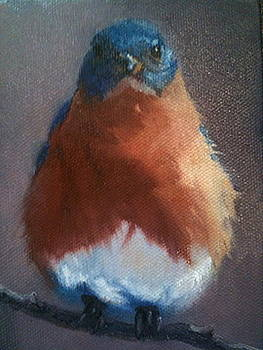 Baby Bluebird by Cynthia Vowell