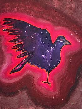 Baby Phoenix original painting by Sol Luckman