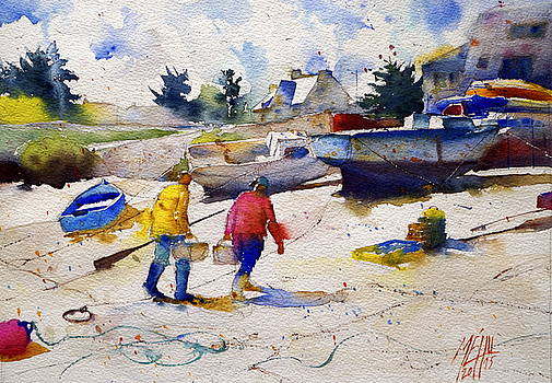 Back from fishing by Andre MEHU