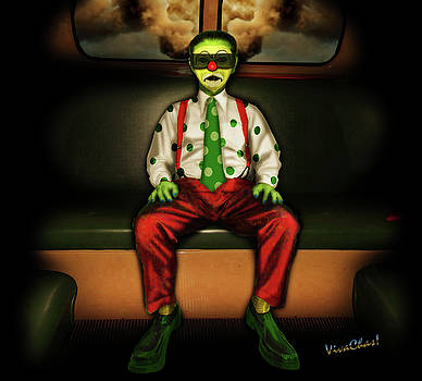 Back of the Bus Clown by Chas Sinklier