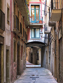 Backstreet in Barcelona by Dave Mills