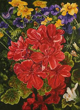 backyard Blooms by Helen Shideler