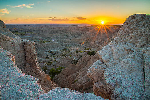 Badlands at Sunset by Christopher L Nelson