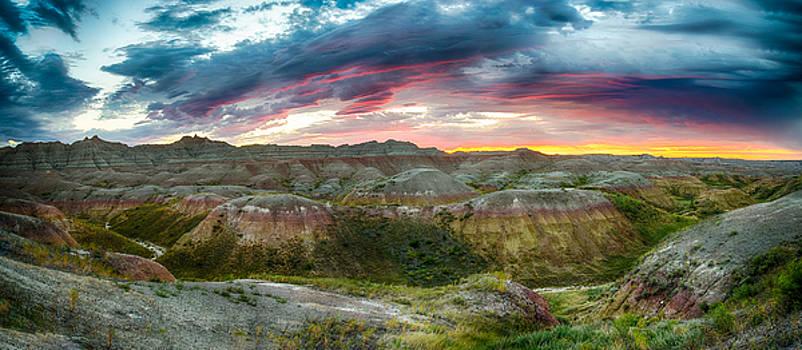 Badlands Sunrise by Christopher L Nelson