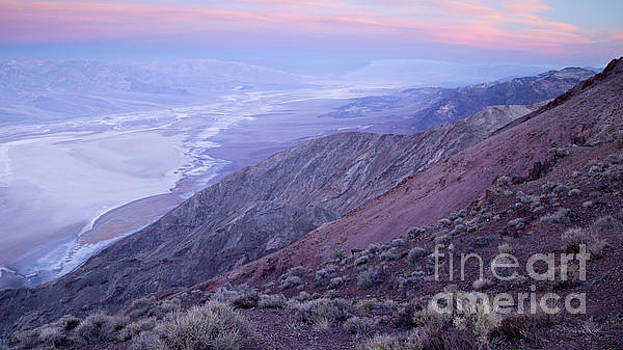 Badwater Basin at Sunrise from Dante's View by Gordon Wood