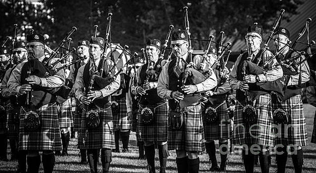 Bagpipe Band - Scottish Festival and Highland Games by Gary Whitton