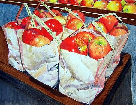 Bags of Apples by Constance Drescher