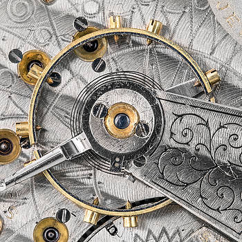 Balance wheel of an antique pocketwatch by Jim Hughes