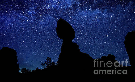 Balanced Rock Silhouette and the Milky Way by Gary Whitton
