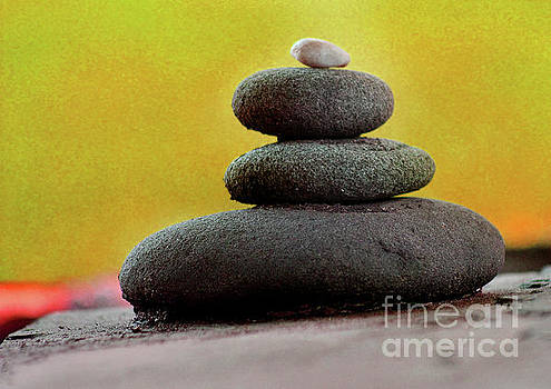 Balancing Rocks Orange by Karen Adams