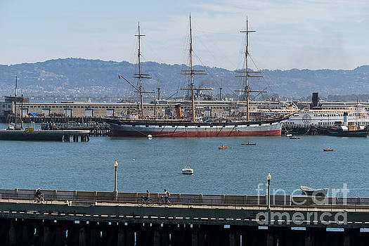 Wingsdomain Art and Photography - Balclutha Cargo Ship At Hyde Street Pier San Francisco California DSC3180