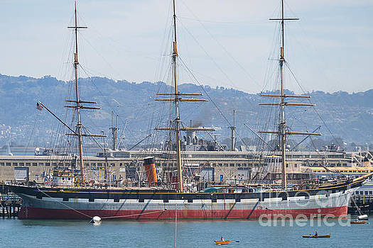 Wingsdomain Art and Photography - Balclutha Cargo Ship At Hyde Street Pier San Francisco California DSC3181