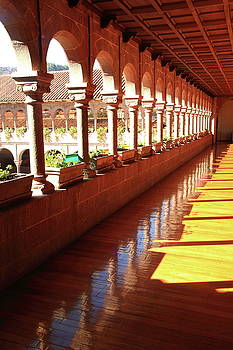 Balcony of the Saint Dominic Priory, Cusco Peru by Roupen  Baker