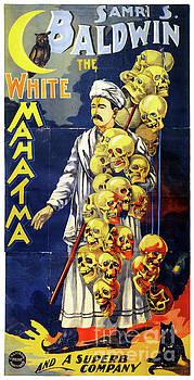 Baldwin The White Mahatma Vintage Poster by Carsten Reisinger