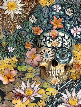 Bali Botaniskull - Floral Sugar Skull Art by Christopher Beikmann