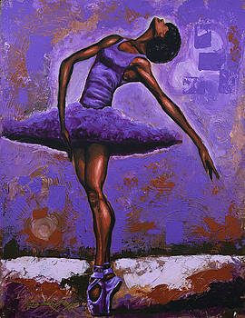 Ballerina Shades Of Purple by The Art of DionJa'Y