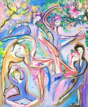Ballet garden party  by Judith Desrosiers