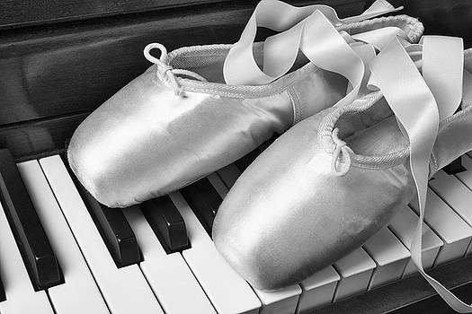 Ballet Slipers In Black And White by Garry Gay
