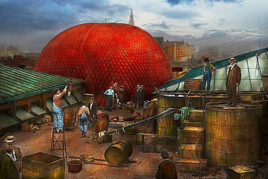 Mike Savad - Balloon - Filling balloon on Wanamaker