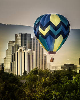 Balloon Over Reno by Janis Knight