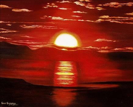 Ballycastle sunset by Gene Gregory