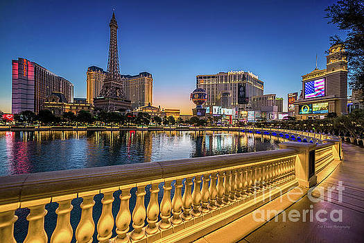 Ballys Paris Planet Hollyworrd Casino At Dawn Wide by Aloha Art